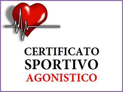 certificato sportivo agonistico