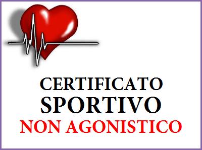 certificato sportivo non agonistico