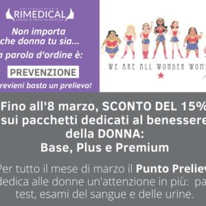 Pacchetti Prevenzione Donna: sconto del 20%