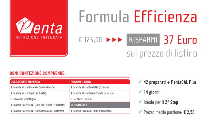 formula efficienza penta