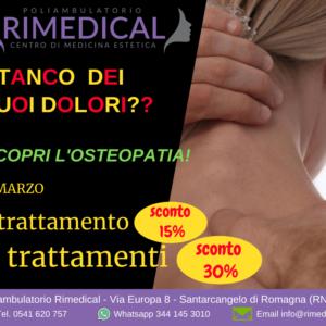 Trattamento osteopatico contro i dolori
