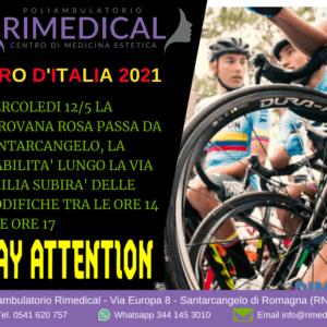 Giro d'Italia 2021 - Viabilità modificata a Santarcangelo