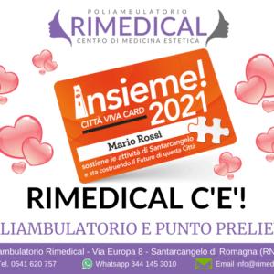 """RIMEDICAL E' SEMPRE """"INSIEME"""" A TE... ANCHE NEL 2021"""